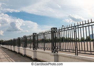 Fence spike sky