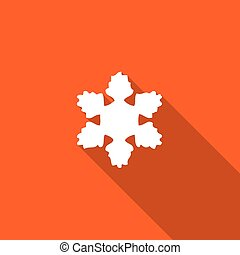 Long Shadow with an Icon of Snow Flake