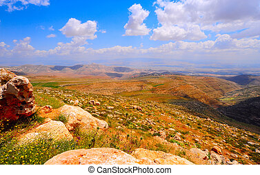 Landscape. - Landscape Of Judea Mountains Near Dead Sea.