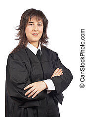 Female judge - A female judge isolated on white background