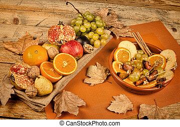 Autum fruit still life