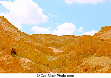 Cave. - Caves In Qumran, Israel, Origin Of The Dead Sea...