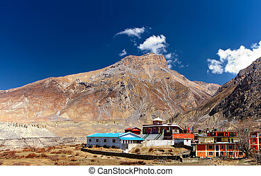monastery in the mountains - Buddhist monastery in the...
