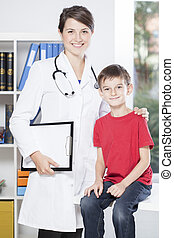 Pediatrician and brave patient