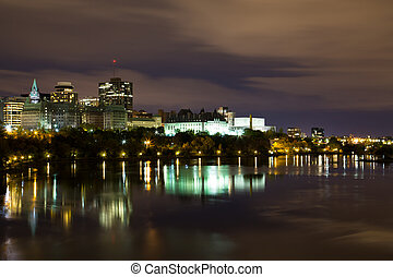 Part of the Ottawa Skyline at Night