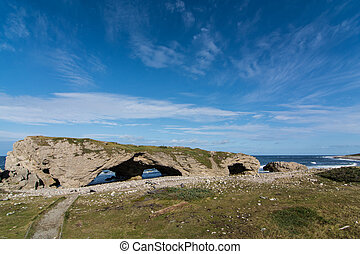The Arches Provincial Park in Newfoundland and Labrador,...