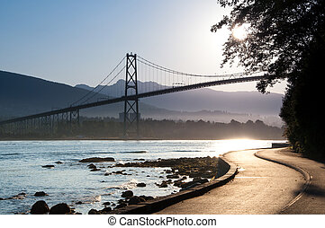 Lions Gate Bridge, Vancouver - The Lions Gate Bridge from...