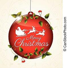 Christmas design over white background, vector illustration