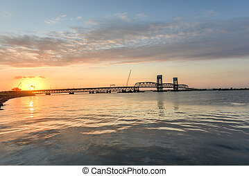 Sunset from the Rockaways, Queens, NY - Marine Parkway-Gil...