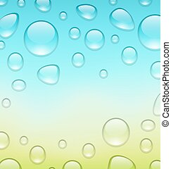 Water abstract background with drops, place for your text -...