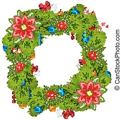 Christmas frame with traditional elements, place for your text