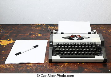 Vintage Travel Typewriter - Old Vintage Travel Typewriter on...