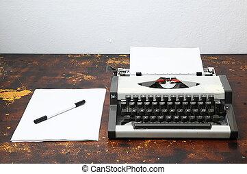 Vintage Travel Typewriter - Old Vintage Travel Typewriter on...