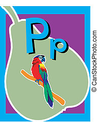 Flashcard Alphabet - Flash Card Letter P nouns. There is one...