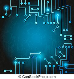 Electronic circuit - Drawing modern electronic circuit on...