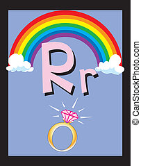 Flashcard Alphabet - Flash Card Letter R nouns. There is one...