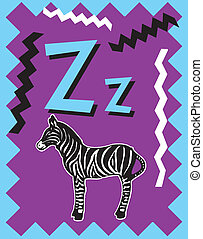 Flashcard Alphabet - Flash Card Letter Z nouns. There is one...
