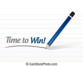 time to win message illustration design