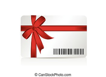 gift cart and barcode illustration