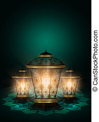 diwali lanterns shining over darkbackground - diwali...