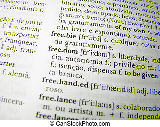 the word freedom in a dictionary page