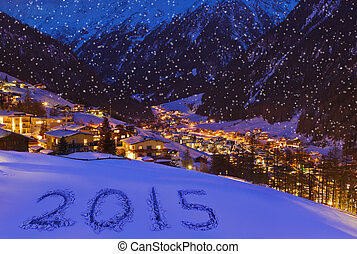 2015 on snow at mountains - Solden Austria - celebration...