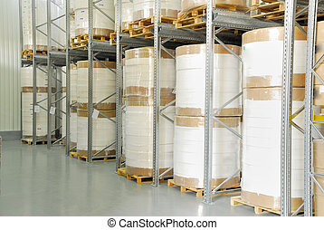 warehouse - industry warehouse storage for white roll