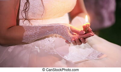 Bride with candle