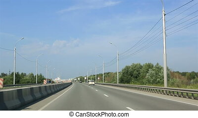 Travel by car on the roads of Novosibirsk. Russia.