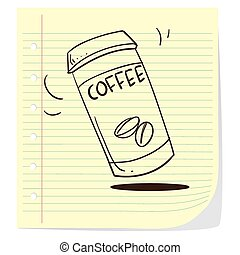 Coffee to go Doodle - Vector illustration of coffee to go in...