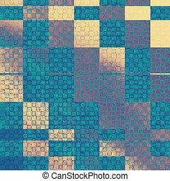 Aged grunge texture. With different color patterns: yellow,...