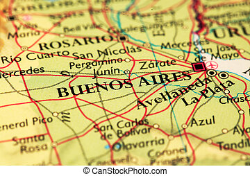 Buenos Aires On Map - Buenos Aires, Argentina on atlas world...