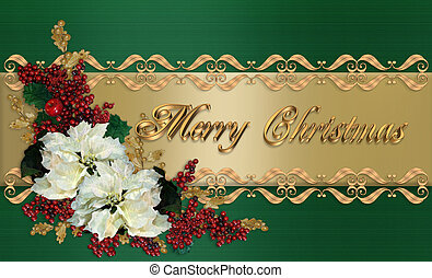 Christmas Card elegant greeting - Image and illustration...
