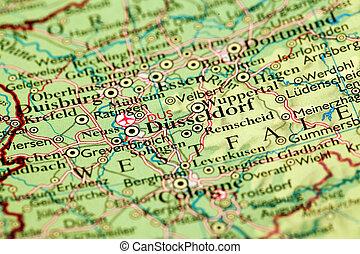 Dusseldorf On Map