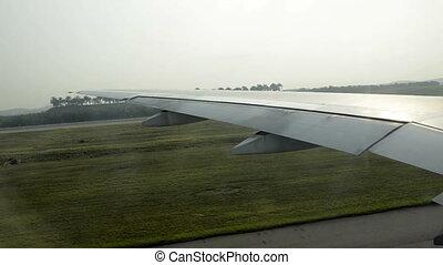 airplane driving to starting area - Kuala Lumpur, Malaysia:...