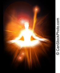 Enlightenment - Concept illustration of positive energy and...