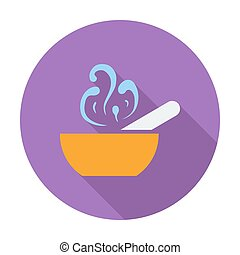 Soup icon - Soup Single flat color icon Vector illustration...