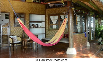 hammock in a bungalow in Bali, indonesia