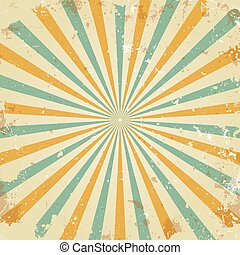 Retro rays background - Retro rays vector background