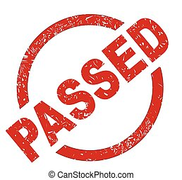 Passed - An passed red ink stamp on a white background
