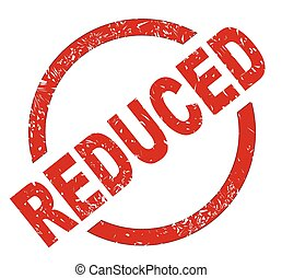 Reduced - An reduced red ink stamp on a white background