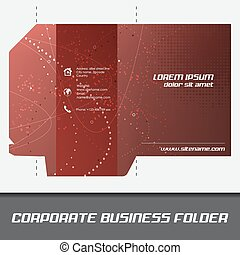 Corporate business folder