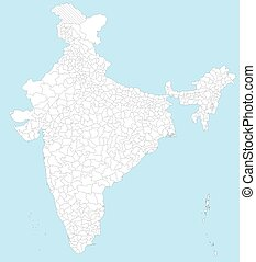 Map of India - A large and detailed map of India with all...