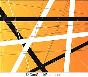 Orange Criss Cross - An orange background with black and...