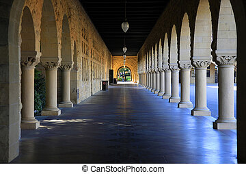 Stanford University, California at late afternoon