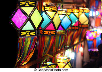 Colorful Lanterns - Traditionally made colorful lanterns...