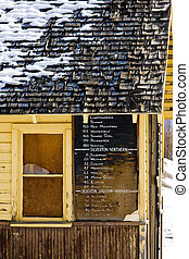 timetable, Silverton, Colorado, USA