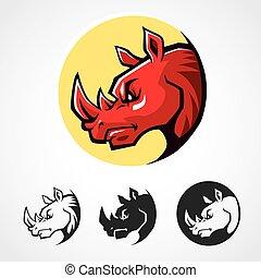 Rhinoceros Head Symbol.