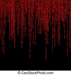 background of binary figures - background of a green matrix...
