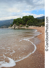 Beautiful beach on the Adriatic coast, Montenegro
